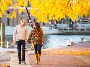Fells Point Autumn Engagement Photos