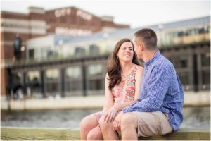 Fells Point Maryland Engagement